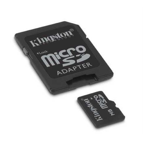 Kingston 2GB Micro Secure Digital Card (SD) adapt.
