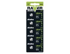 Alkalická knoflíková baterie RAVER LR44 (A76), blistr 1325007605