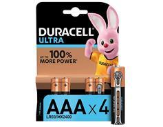 Alkalická baterie Duracell Ultra, typ AAA, sada 4 ks