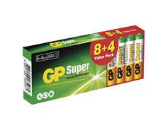 GP BAT. SUPER LR03 8+4DB B1310T2